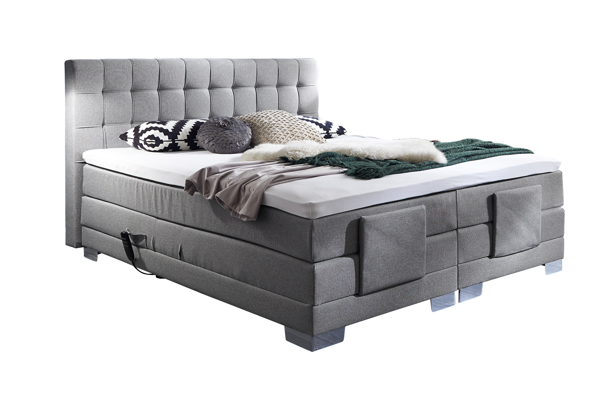 boxspringbett elektrisch verstellbar belcada. Black Bedroom Furniture Sets. Home Design Ideas