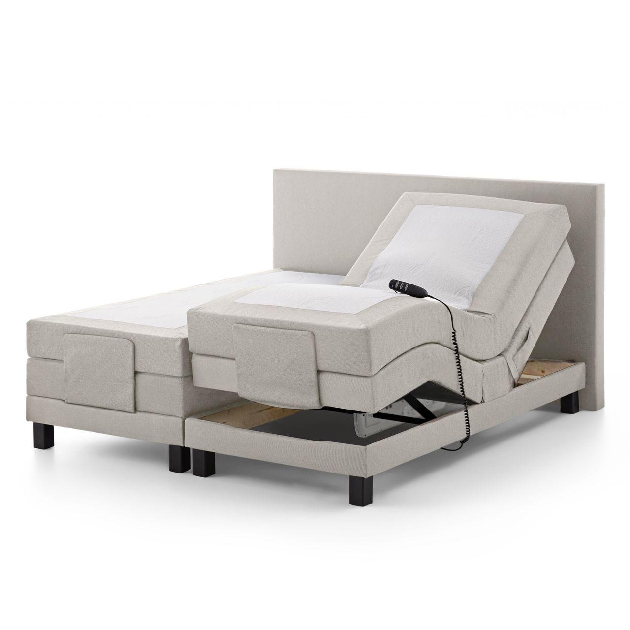 belvandeo ancona amerikanisches boxspring bett mit motor 7 zonen taschenfederkern matratzen. Black Bedroom Furniture Sets. Home Design Ideas